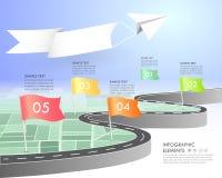 时间安排企业概念infographic模板, 向量例证