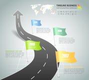 时间安排企业概念infographic模板4步, 库存照片