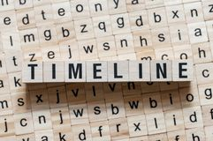 时间安排在立方体的词概念 免版税库存照片
