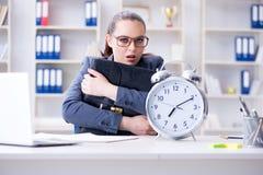 时间安排概念的女实业家 免版税库存照片