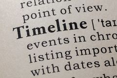 时间安排的定义 库存图片