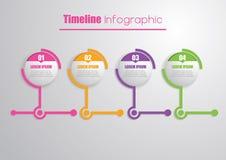 时间安排Infographic 免版税图库摄影