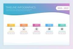 时间安排Infographics 皇族释放例证