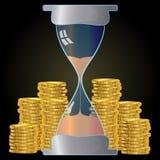 时间是金钱3d传染媒介例证 皇族释放例证
