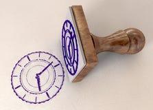 时间标记印花税 库存图片