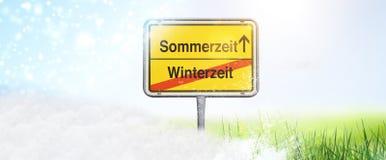时间的变动从冬天-对夏令时 免版税库存照片