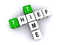时间窃贼标志 库存例证