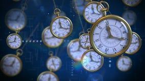 时间背景动画 向量例证