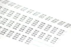 时间表 免版税库存照片