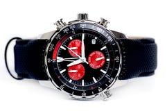 时间记录法手表腕子 库存照片