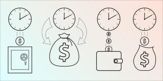 时间 向量例证