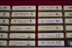 时髦八卷轨道磁带 免版税库存照片