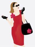 时髦典雅的夫人 免版税库存图片