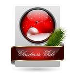 时髦圣诞节销售额看板卡 库存图片