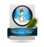 时髦圣诞节销售额看板卡 免版税库存图片