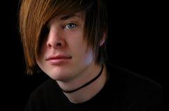 时髦头发的少年 库存图片