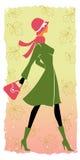 时髦女孩的购物 免版税图库摄影