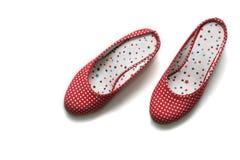 时髦平面的鞋子 库存图片