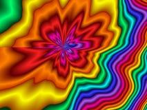 时髦彩虹减速火箭的背景 库存图片