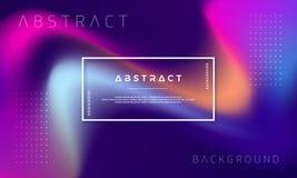 时髦抽象液体背景 横幅的被分级的液体背景,网,招贴,登陆的页,盖子,海报, 库存例证