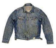 时髦按的牛仔布的夹克 免版税图库摄影
