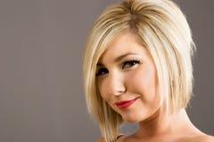时髦新的发型 免版税库存图片