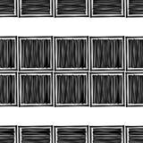时髦无缝的样式设计 在墨水得出的黑白图 导航几何背景 向量例证