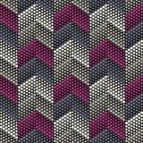 时髦无缝的样式设计 小点之字形  传染媒介几何背景 库存照片