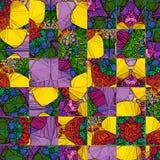 时髦正方形,任何目的了不起的设计 透明彩虹集合 几何方形的抽象背景 库存例证