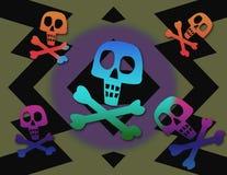 时髦海盗旗 免版税库存图片