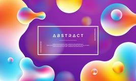 时髦液体颜色背景 背景现代紫色 现代摘要动态液体设计海报 皇族释放例证