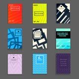 时髦的书套设计模板 库存例证