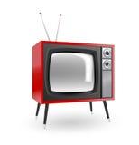 时髦的减速火箭的电视 向量例证