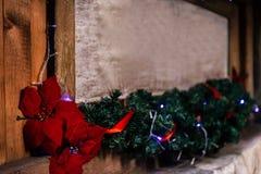 时髦的圣诞节框架或牌与诗歌选光和胸罩 免版税图库摄影