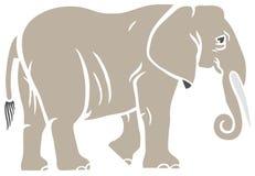 时髦的大象 向量例证