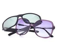 时髦的太阳镜对 免版税库存照片