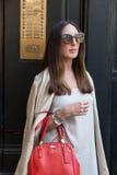 时髦的女人米兰人` s时尚星期 库存照片