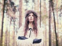 时髦的女人 图库摄影
