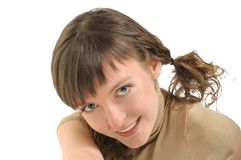 时髦的女孩 免版税库存图片