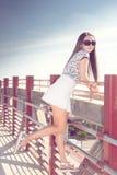 时髦的女孩 免版税图库摄影