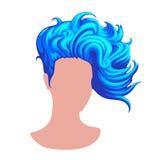 时髦的女性发型 免版税库存照片