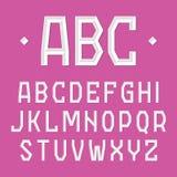 时髦的字体,字母表 免版税库存照片