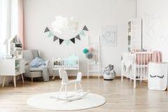 时髦的家具在孩子` s室 库存照片