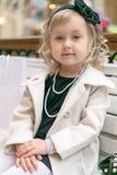 时髦的小女孩 图库摄影