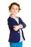 时髦的小男孩 免版税库存图片
