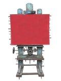 时髦的工业样式广告盘区、生锈的齿轮和螺栓, 免版税库存照片