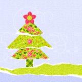 时髦的新年度或圣诞节scrapbooking的看板卡 免版税库存图片
