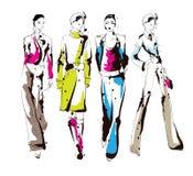 时髦的时装模特儿 相当女孩 时尚妇女 库存例证