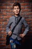 时髦的现代男孩 免版税库存图片