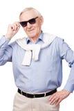 时髦的祖父 免版税库存照片